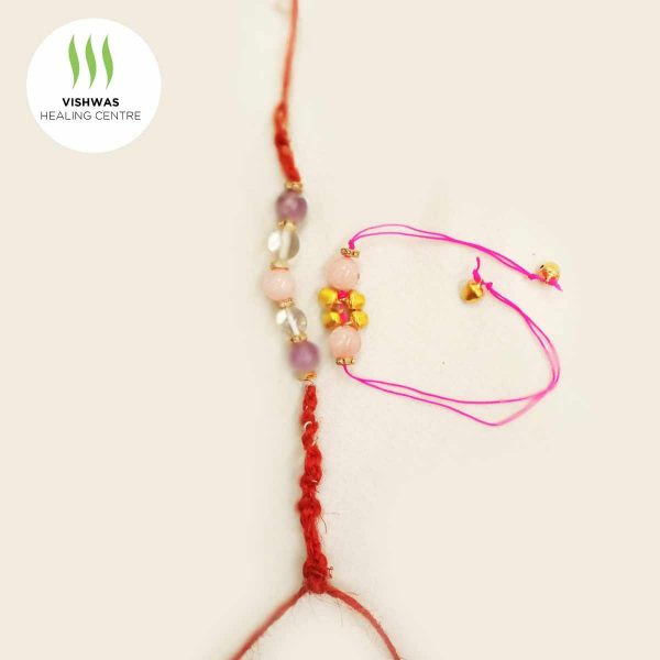 rakhi crystal bracelet for brother and bhabhi