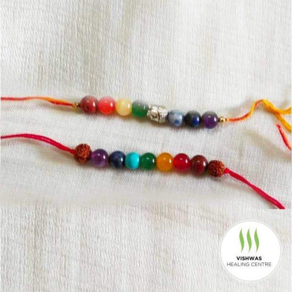 seven chakra crystal rakhi for brother