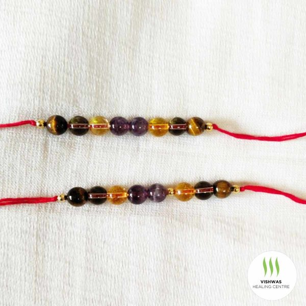 Multi beads crystal rakhi